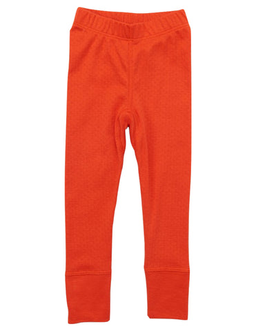 Pointelle Legging - Persimmon