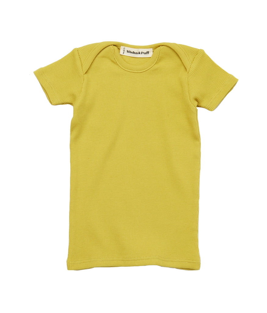 Ribbed Slim Tee - Spring Green