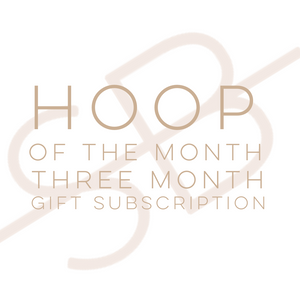 Hoop of the Month Club - 3 Month Gift