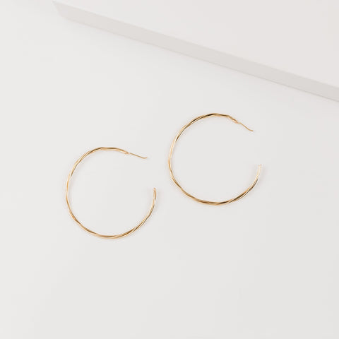 Kynsley Diamond Thin Wire Hoop