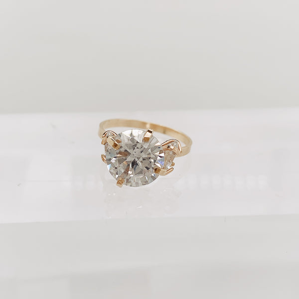 Clear Cooper Ring