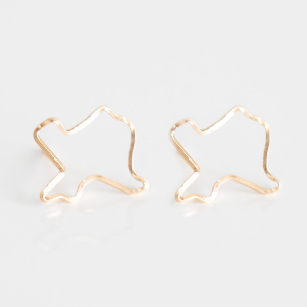 Texas Outline Earring