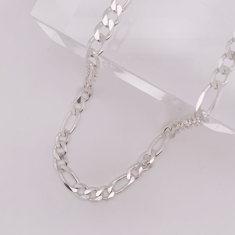7mm Figaro Chain Necklace