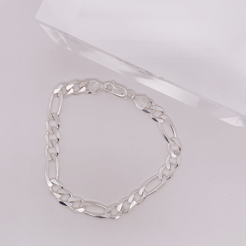 7mm Figaro Chain Bracelet