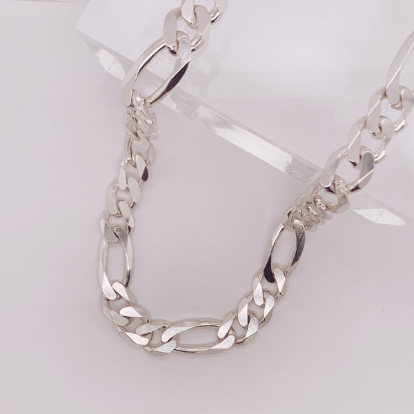11mm Figaro Chain Necklace