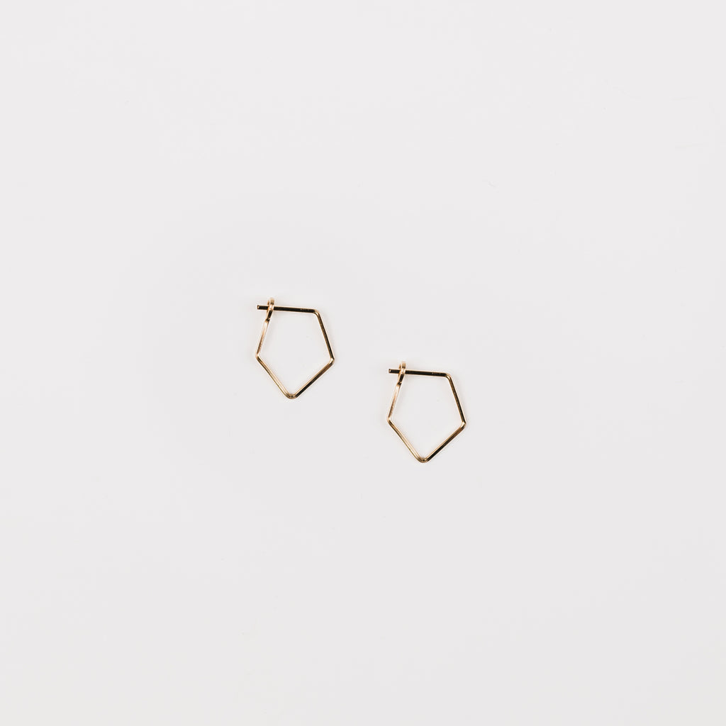 Kynsley Mini Diamond Thin Wire Hoop