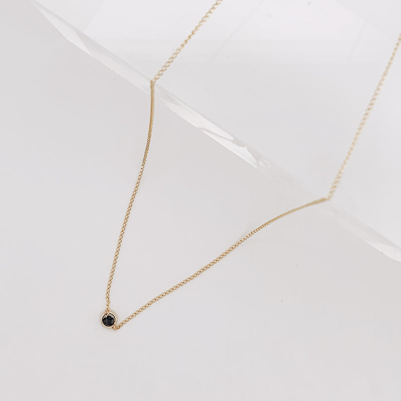 Shaw Black Diamond Necklace
