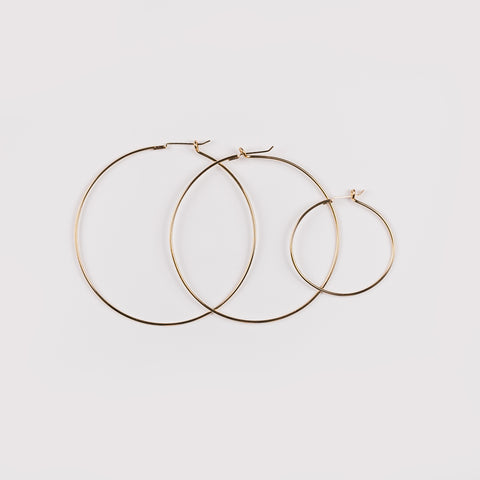 Luxe Large Hoop (Pick Your Charm)