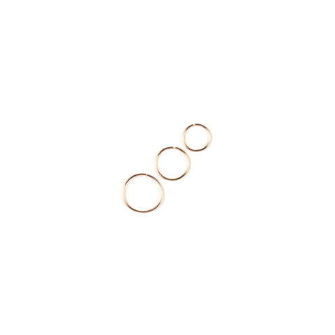 Garner Rose Gold Wishbone Hoop