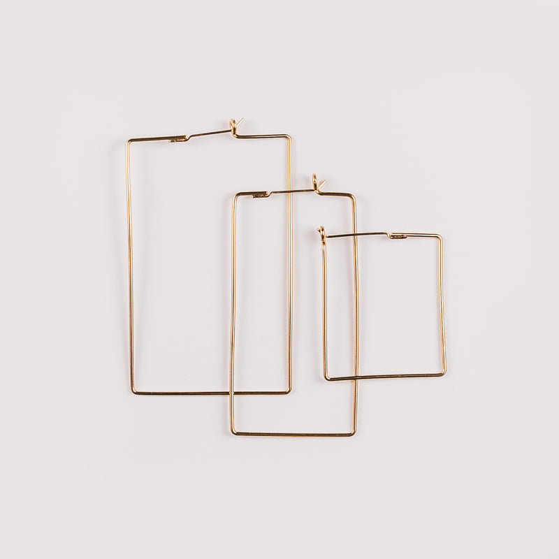 Tristan Rectangle Bold Wire Hoop
