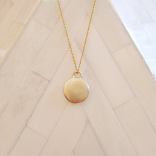 Monsoon Pendant 9 or 18k Gold- made to order-POA