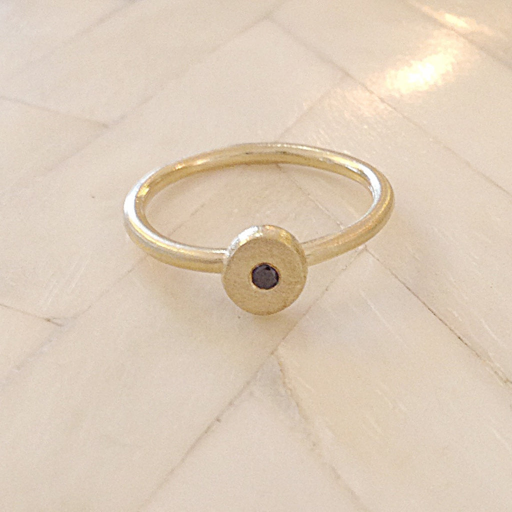 Sirocco Ring 9 or 18k gold w/ Black Diamond-Made to order- POA