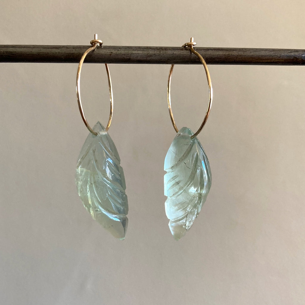 Carved Fluorite Hoops