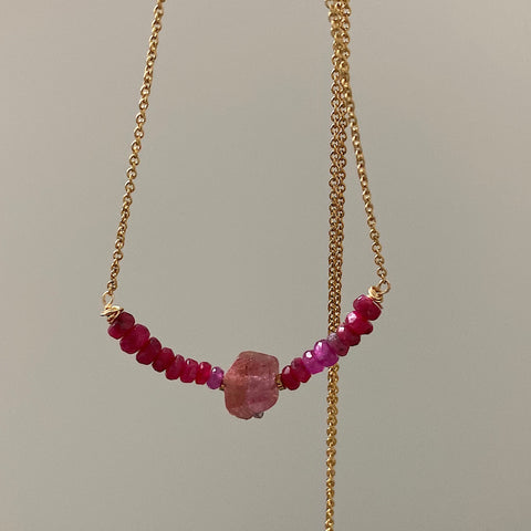 Ruby and Tourmaline Necklace 2