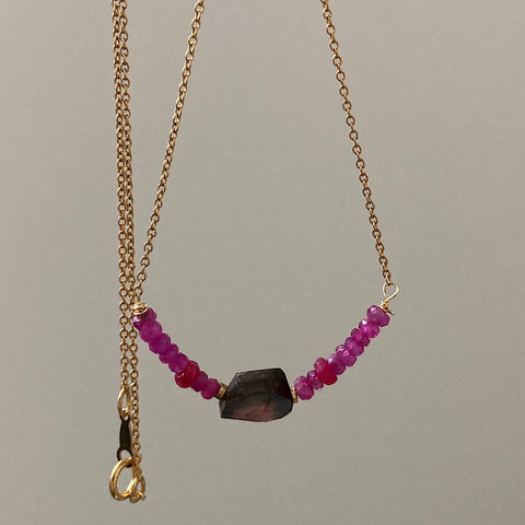 Ruby and Tourmaline Necklace 1