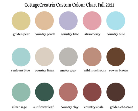 MD Handfield cottagecore colour chart options