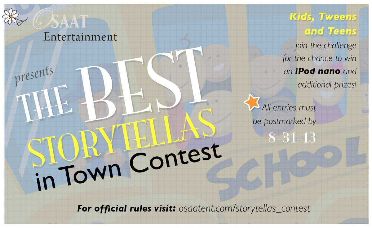 Banner for Best Storytellas in Town Contest for back to school