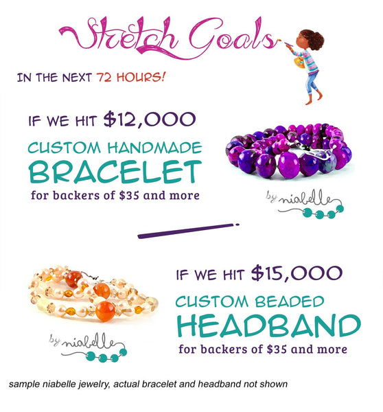 Banner Kiley's Purple Hat stretch goals on Kickstarter
