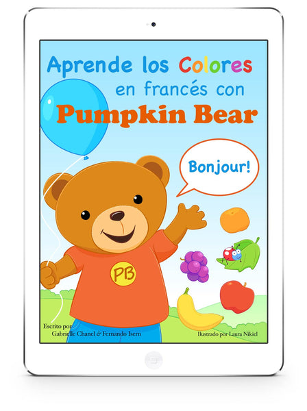 Book Cover: Aprende los Colores en francés con Pumpkin Bear (eBook)
