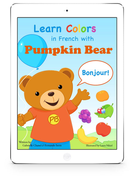 Book Cover: Learn Colors in French with Pumpkin Bear (eBook)