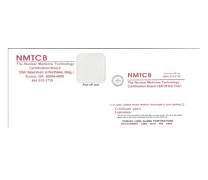 NMTCB Replacement Certification Card