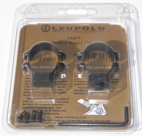 Leupold STD 25mm Medium Scope rings (pre-owned)