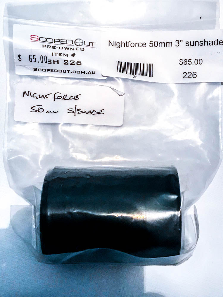 "Nightforce 50mm 3"" Sunshade"