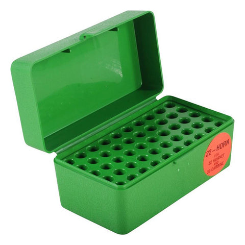MTM Rifle Ammo Box - 22-HORN - 50 Round