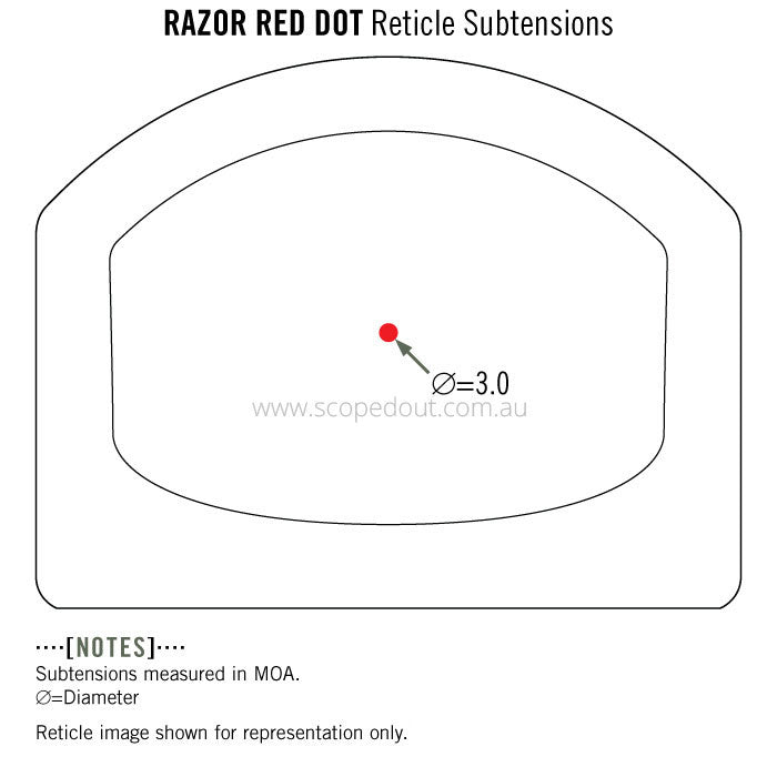 Vortex Razor Red Dot scope 3 MOA Reticle