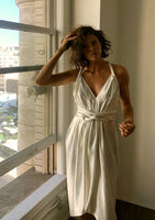 Limited Edition Infinite Rope Dress Pearl Silk Hemp Charmeuse
