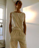 Man Ray Chemise Raw Silk Ivory Cream  (Pre-Order)