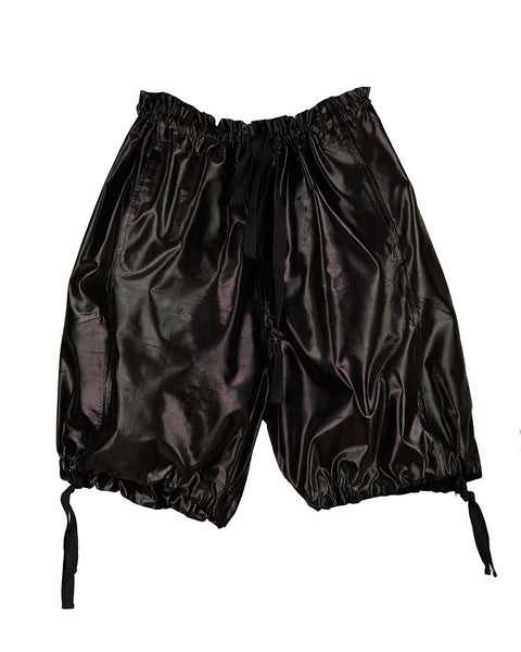 Unisex Genie Shorts Silk Metallic Black Onyx