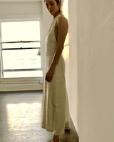 Oran Jumpsuit Raw Silk Ivory Cream (Pre-Order)