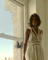 Infinite Rope Dress Ivory Cream Raw Silk