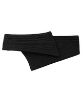 Reversible Quilted Asymmetrical Belt Black Cotton Canvas