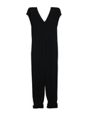 Origami Jumpsuit (Washed Cotton Gauze Black)
