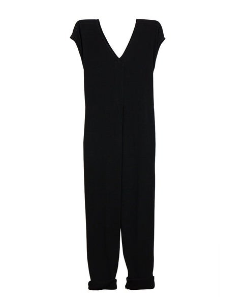 Origami Jumpsuit (Pre-Washed Cotton Gauze Black)