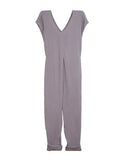 Origami Jumpsuit (Washed Cotton Gauze Earl Grey)