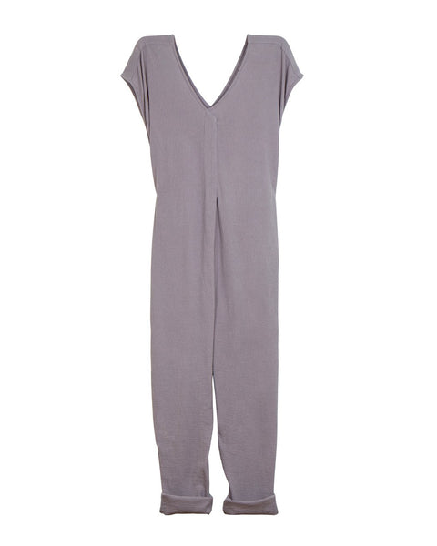 Origami Jumpsuit (Pre-Washed Cotton Gauze Earl Grey)