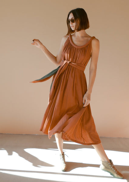 Sahara Chemise Dress in Camel