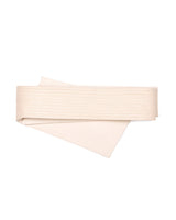 Reversible Quilted Asymmetrical Belt Cotton Canvas Cream