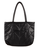 Chevron Tote Bag Black Leather (Pre-Order)