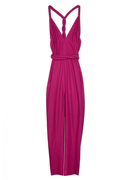 Infinite Rope Jumpsuit Raw Silk Magenta