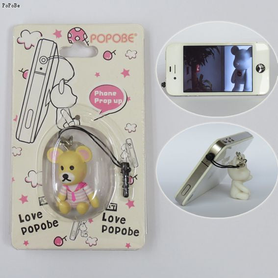 POPOBE Rilakkuma Bear (pink) 2 inch Phone Prop-up