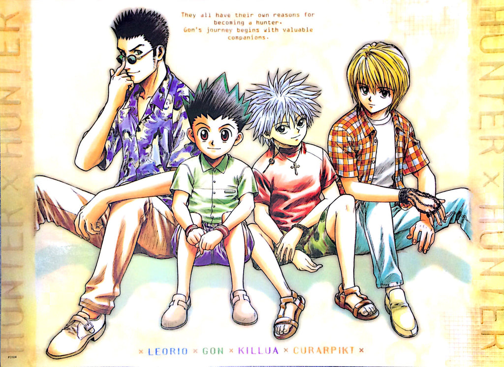 "A2 Laminated Poster 25""X16"" Hunter x Hunter / Gon, Killua, Leorio, Kurapika"