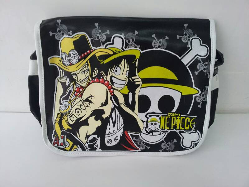 One Piece Anime Luffy, Ace PU Leather Shoulder Bag