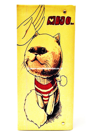 Artistic Cat Mojo PU Leather Long Wallet