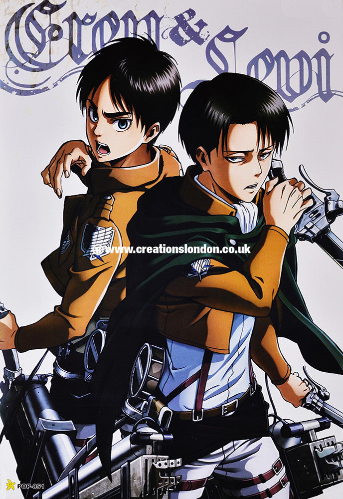 "A3 Size Posters 16.5""x11.5"" Attack on Titan / Eren Jaeger, Levy"