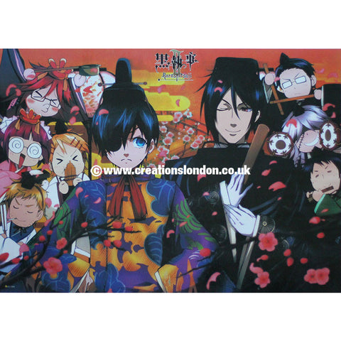 "A2 Laminated Poster 25""X16"" Black Butler / Black Butler Characters"