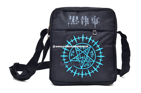 Black Butler Sebastian Michaelis Demon Mark Canvas Messenger Shoulder Bag